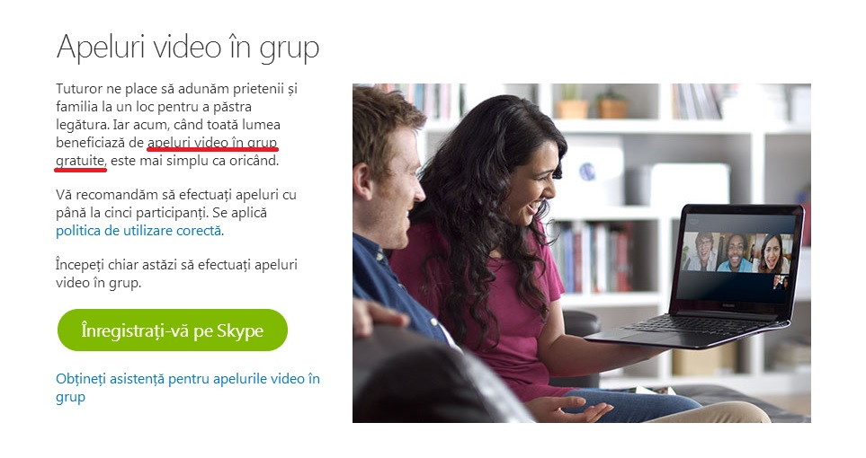 apeluri video in grup gratuite skype