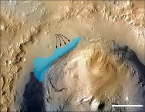 intiderea-lacului-din-craterul-gale-Robotul Curiosity