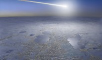 meteorit lovind pamantul