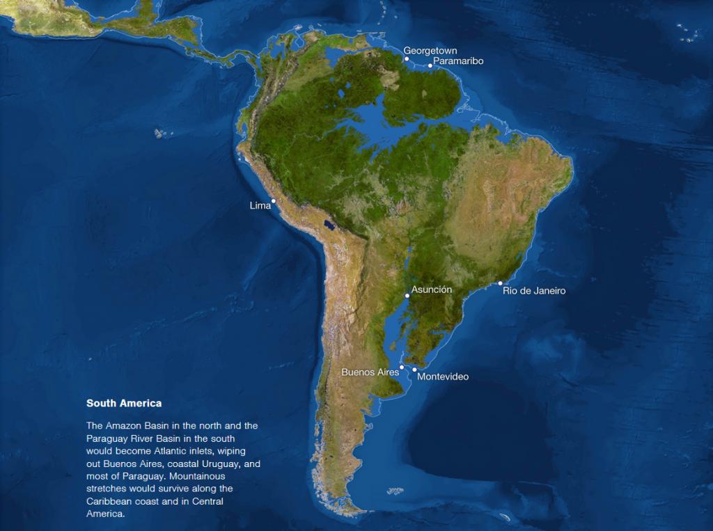 America de Sud dupa topirea ghetarilor
