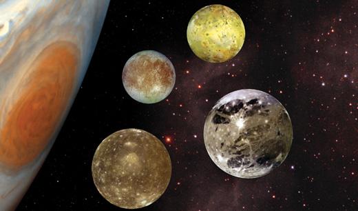 Satelitii galileeni ai lui Jupiter