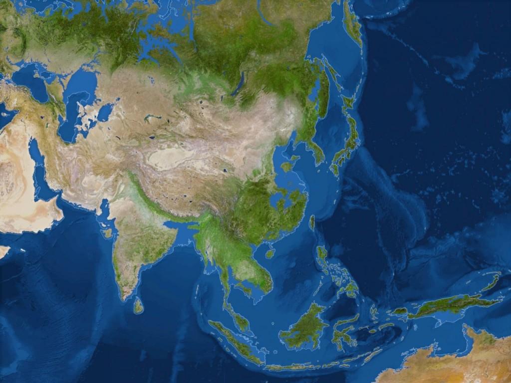 Asia si Oceania dupa topirea ghetarilor