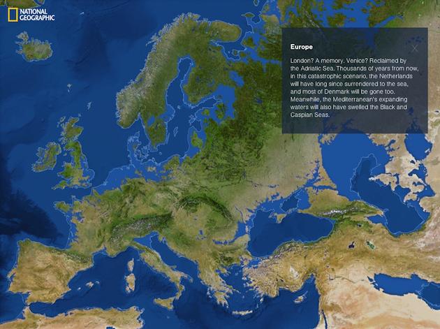Europa dupa topirea ghetarilor