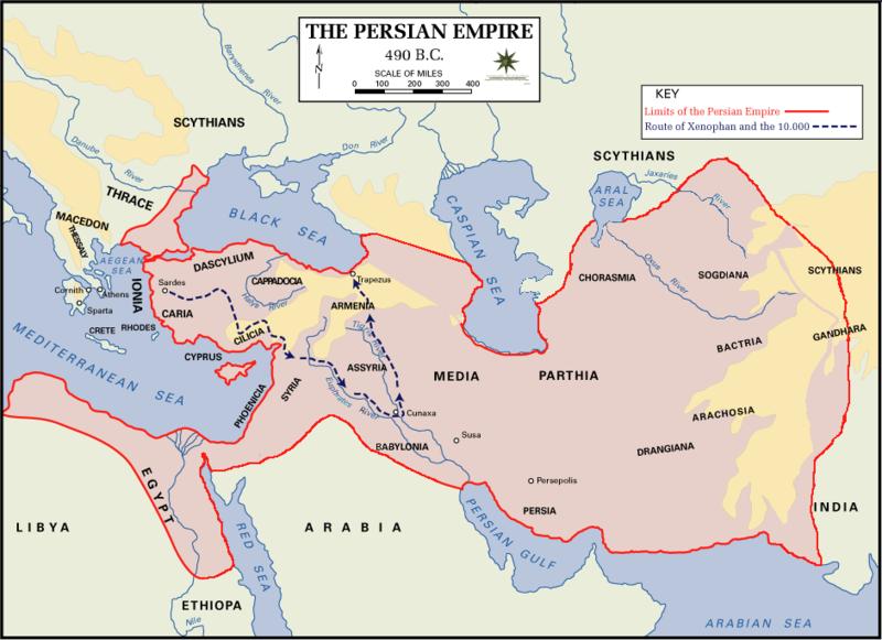 imperiul persan intindere harta