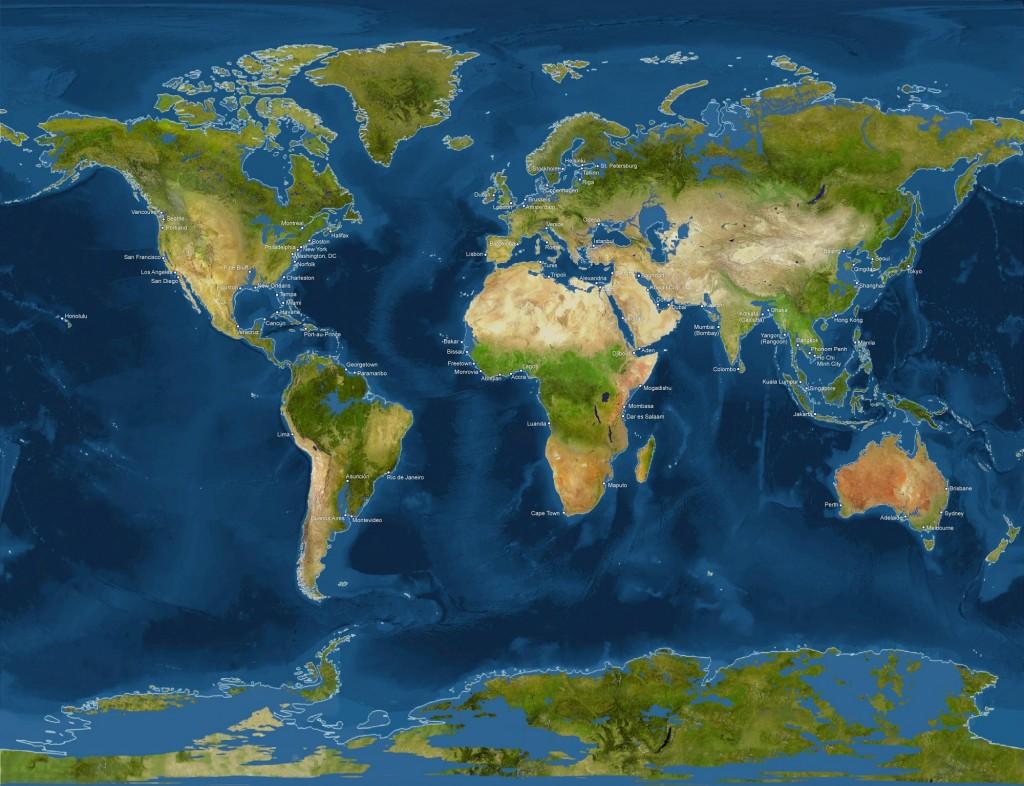 Harta lumii dupa topirea ghetarilor