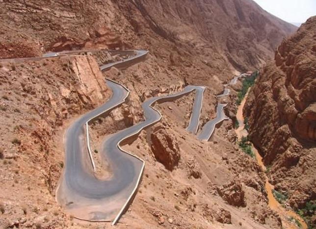 Drumul Montan Atlas din Maroc